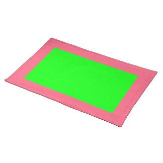 Heldere Roze en Limoen Placemat