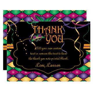 Heldere Traditionele Mardi Gras dankt u Kaarten 8,9x12,7 Uitnodiging Kaart