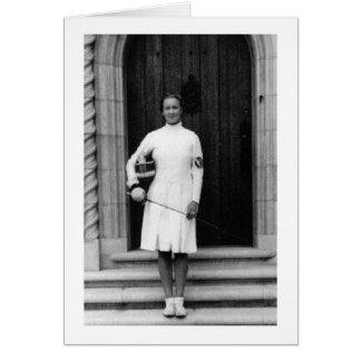 Helene vintage Mayer clôturant la carte de note de