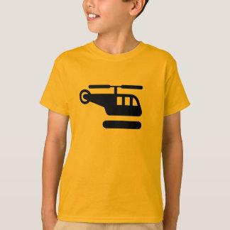 Hélicoptère d'AIGA/chemise signe d'héliport T-shirt