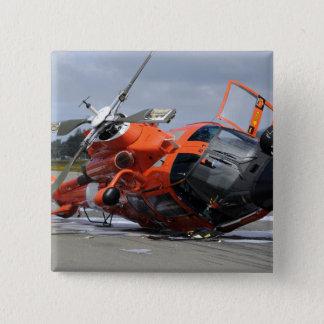 Hélicoptère du dauphin MH-65 écrasé chez Arcata Badge Carré 5 Cm