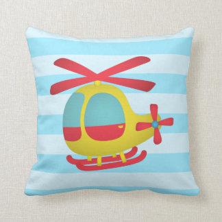 Hélicoptère mignon et coloré pour la pièce oreiller
