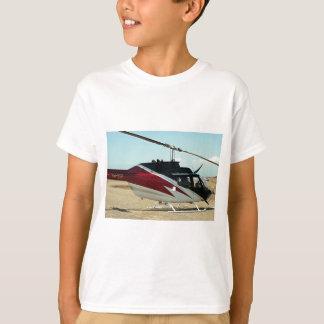 Hélicoptère (rouge, blanc et noir) t-shirt
