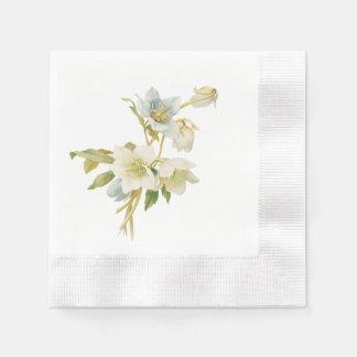 Hellebores bleus et blancs serviette en papier