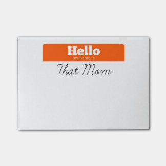 Hello, Mijn Naam is DAT de Post-its van het Mamma Post-it® Notes