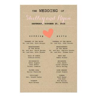 Hem en Haar Programma van het Huwelijk Flyer 14 X 21,6 Cm