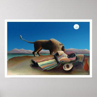 Henri Rousseau - le gitan de sommeil Poster