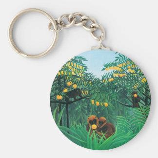 Henri Rousseau le porte - clé de tropiques Porte-clés