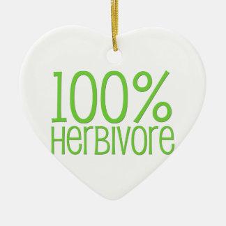 Herbivore 100% ornement cœur en céramique