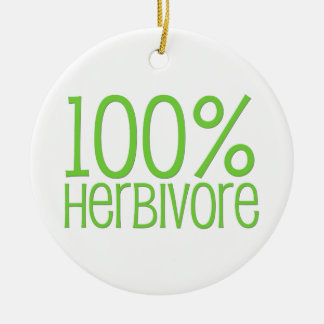 Herbivore 100% ornement rond en céramique