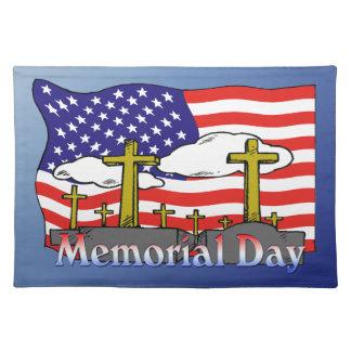 Herdenkings Dag - de Doek Amerikaanse MoJ van de G Onderlegger
