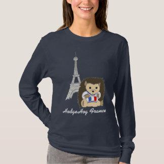 Hérisson dans des chemises de Paris - customisez T-shirt