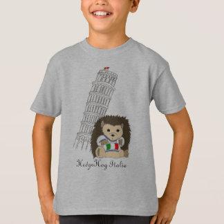 Hérisson dans des T-shirts de l'Italie