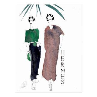 Hermes façonnent la carte postale par