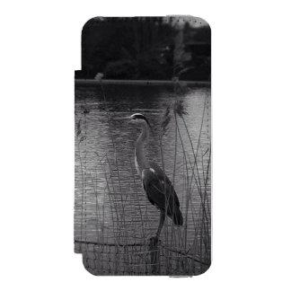 Héron dans les roseaux coque-portefeuille iPhone 5 incipio watson™