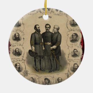 Héros de guerre civile ornement rond en céramique