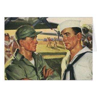 Héros patriotes vintages, effectifs militaires carte