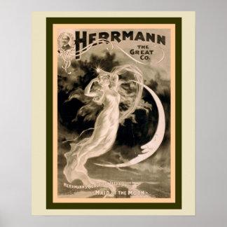 Herrmann le grand poster vintage 16 x 20 de