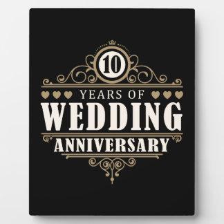 het 10de Jubileum van het Huwelijk Fotoplaat