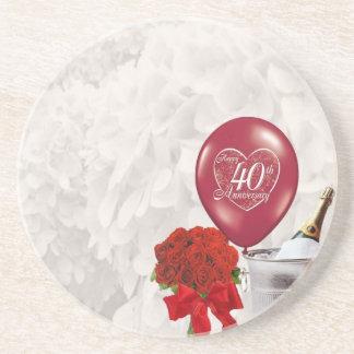 het 40ste Jubileum van het Huwelijk Zandsteen Onderzetter