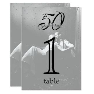 het 50ste Aantal van de Lijst van het Jubileum van 12,7x17,8 Uitnodiging Kaart