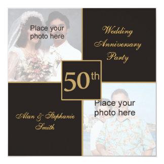 het 50ste Jubileum van het Huwelijk toen & nu Kaart