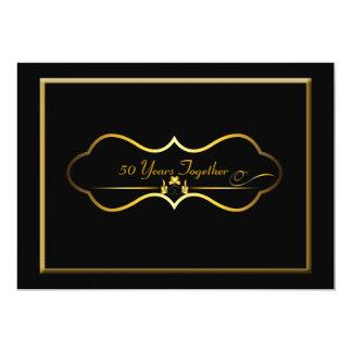 het 50ste Jubileum van het Huwelijk 12,7x17,8 Uitnodiging Kaart