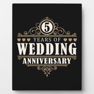 het 5de Jubileum van het Huwelijk Fotoplaat