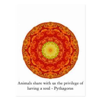 Het aandeel van dieren met ons het voorrecht van h wenskaart