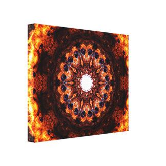 Het abstracte Branden Canvas Afdrukken