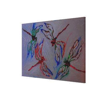 het abstracte canvas van de libellenzomer