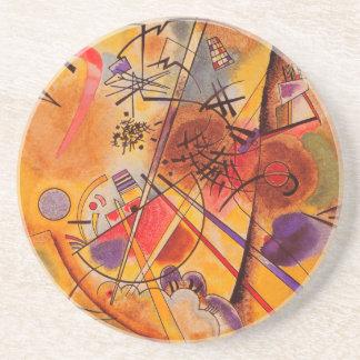 Het Abstracte Kunstwerk van Kandinsky Zandsteen Onderzetter