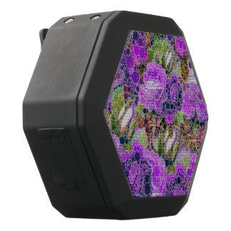 Het Abstracte Patroon van paarse Rozen Zwarte Bluetooth Speaker