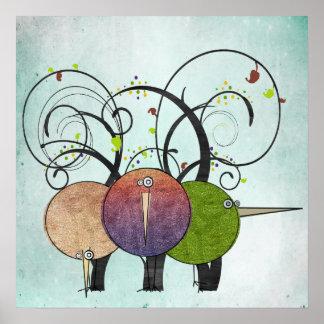 Het abstracte Poster van de Druk van de Kunst van