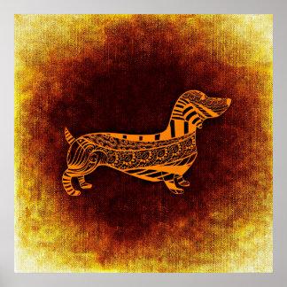 Het abstracte Poster van de Hond