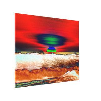 Het abstracte Rode Canvas LighthouseRoute van de