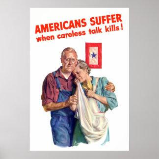 Het achteloze Doden van de Bespreking Poster