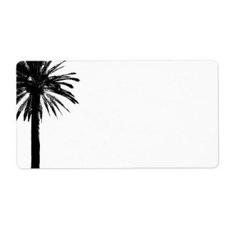 Het adresetiket van de palm voor strandhuwelijken etiket