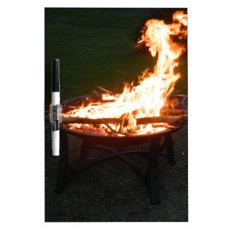 Het afbeelding van het de kuilvuur van de brand whiteboard