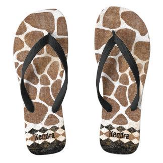 Het Afrikaanse Patroon van de Giraf Teenslippers
