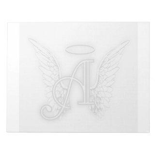 Het Alfabet van de engel een Eerste Laatstgenoemde Notitieblok