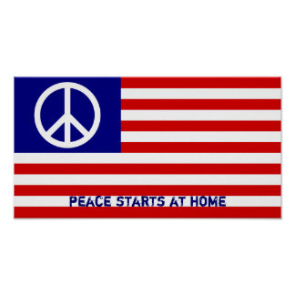 Het Amerikaanse Teken van de Vlag en van de Vrede Poster