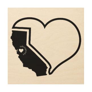 Het Art. van de Muur van de Liefde van Californië Hout Afdruk