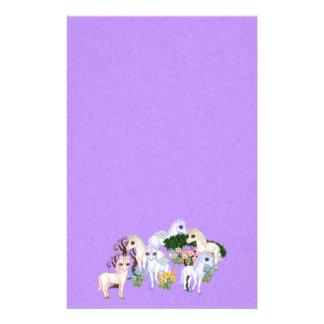 Het Art. van het Pixel van de Tuin van de eenhoorn Briefpapier