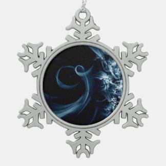 Het Art. van Kerstmis Tin Sneeuwvlok Ornament