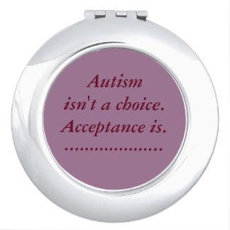 """Het """"autisme is geen keus"""" compacte spiegel makeup spiegel"""