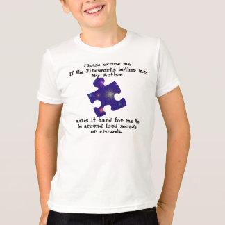 Het autisme van het vuurwerk t shirt