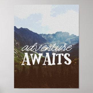 Het avontuur wacht op poster