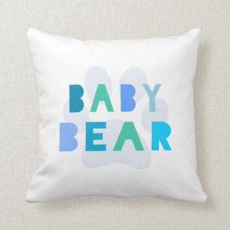 Het baby draagt - blauw sierkussen