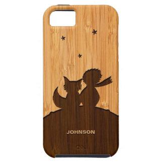 Het bamboe ziet eruit & graveerde Weinig Prins met Tough iPhone 5 Hoesje